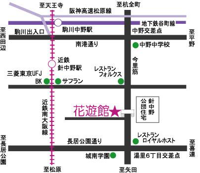 タマトメ花遊館MAP